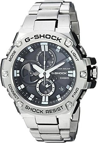 Casio Men's 'G-Shock' Quartz Resin and Stainless Steel Dress Watch, Color Sil...