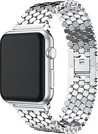 Apple Watch Series 3/2/1 38MMStainless Steel Watch Band Replacement Strap ,135-…