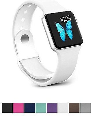 Apple Watch Series 3 42MM/38MM,Sunfei NEW Sports Soft Silicone Replacement Spor…