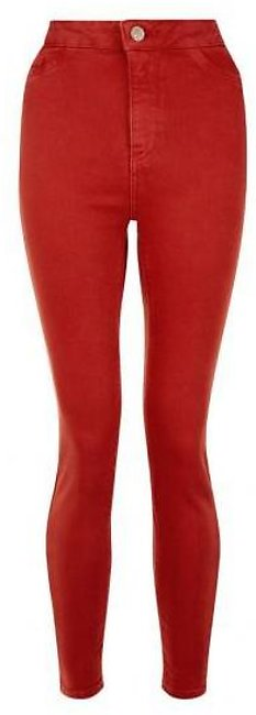 Women's Crimson Red Denim Skinny Jeans