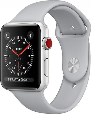 Apple Watch Series 3 - 42mm Silver Aluminum Case with Fog Sport Band, GPS+Cel...