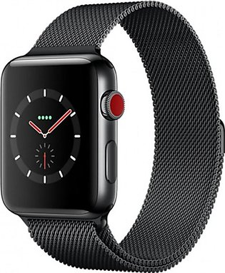 Apple iWatch Series 3 42mm Space Black Stainless Steel Case With Space Black ...
