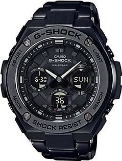 Casio Men's 'G SHOCK' Quartz Stainless Steel Casual Watch, Color:Black (Model: GST-S110BD-1BCR)