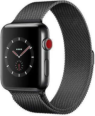 Apple Watch MR1V2 Series 3 42mm Space Black Stainless Steel Case With Milanes...