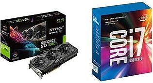 ASUS ROG STRIX GeForce GTX 1080 TI 11GB VR Ready 5K HD Gaming Graphics Card (ROG-STRIX-GTX1080TI-11G-GAMING) & Intel 7th Gen Intel Core Desktop Processor i7-7700K (BX80677I77700K)
