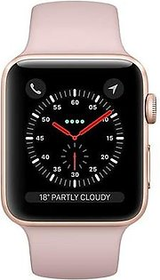 Apple Watch MQKP2 Series 3 42mm Gold Aluminum Case (with Sport Band) GPS+Cellular