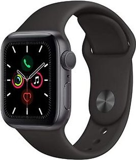Apple Watch Series 5 (GPS + Cellular, 40mm) - Space Black Stainless Steel Case with Black Sport Band