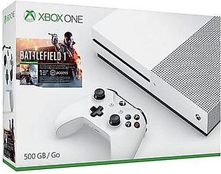 Microsoft Xbox One S Battlefield 1 Bundle - 500GB -White