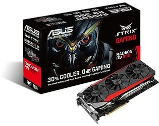 Asus STRIX Radeon R9 390 Overclocked 8 GB DDR5 512-bit DisplayPort HDMI 1.4a ...