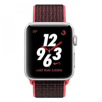 Apple Watch MQMG2 Series 3 NIKE+, 42MM Silver A Luminum Case (With Nike Sport Loop) GPS+Cellular
