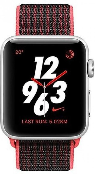 Apple Watch MQMG2 Series 3 NIKE+, 42MM Silver A Luminum Case (With Nike Sport...