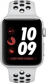 Apple Watch MQME2 Series 3 42MM Silver Aluminum Case (With Nike Sport Band) GPS+Cellular