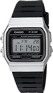 Casio Men's 'Classic' Quartz Metal and Resin Casual Watch, Color:Black (Model: F-91WM-7ACF)
