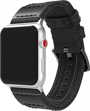 Apple Watch Band,Luxury Canvas Leather Watch Band Wrist Strap For Apple Watch S…