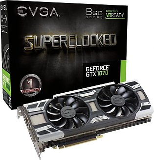 EVGA GeForce GTX 1070 SC GAMING ACX 3.0, 8GB GDDR5, LED, DX12 OSD Support (PX...