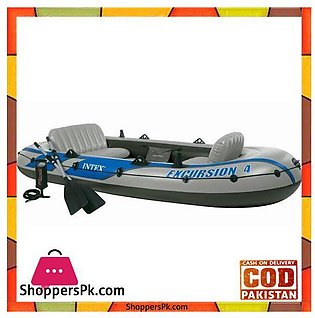 Intex Inflatable Excursion 4 Boat Set – 68324