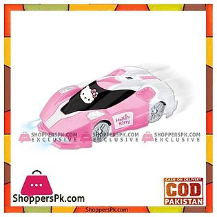 Remote Control Hello Kitty kids Playing Wall Climber