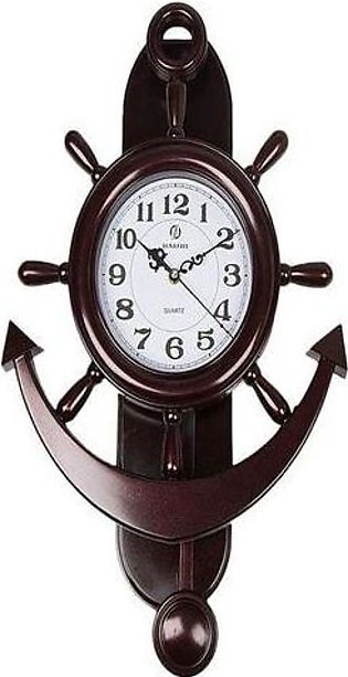 Anchor Wall Clock –  Shinning Red