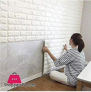 Pvc 3D Foam Brick Wall Panel 77 x 70 CM 1 – Pcs