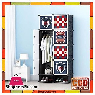 Football Club DIY 8 Cube Cabinet With Shoe Rack