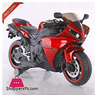 Yamaha R1 Latest Style with Handle Race Kids Ride on Bike Metallic Paint Color