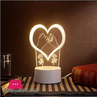 The neon lights 3D stereo Night light Small table lamp