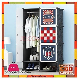 Football Club DIY 6 Cube Cabinet With Shoe Rack