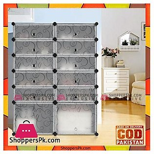 Intelligent Plastic Portable 2 Cube Cabinet – Shoe Rack 10 Cube