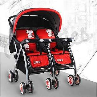 DOUBLE STROLLER Red 703A-308