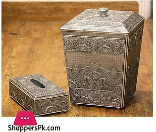Tissue Box and Dustbin Set