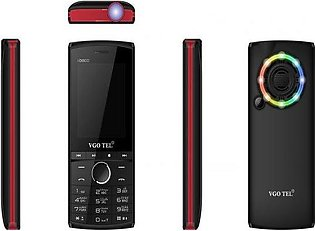 VGO TEL I Disco Black Red with Official Warranty