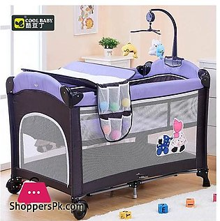 Coolbaby KDD-970 Multifunctional Folding Crib Children Bed Continental Portable…