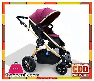 Baby High-Quality Stroller Two-way Four-wheeled Folding Baby Carriage