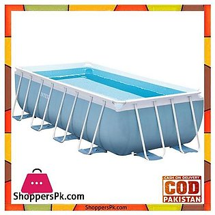 "Intex Prism Frame Pool With Filter Pump And Safety Ladder -4m X 2m X 1m"" – 28316"