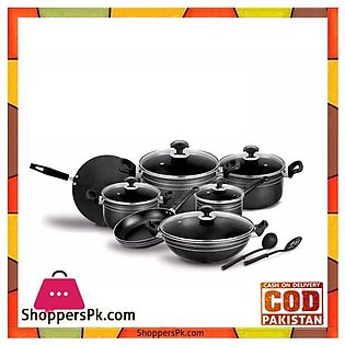 Sonex Classic Edge Gift Pack – Nonstick Cookware Set of 14 Pieces