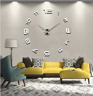 Silent Wall Clock – Silver