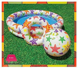 Intex Stars Pool Set with Beach Ball and Swim Ring – Age 3+ – 59460