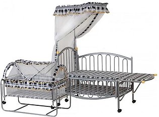 BLACK WHITE PRINT METAL COT 267A