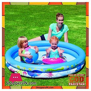 Bestway Inflatable Vinyl kids Play Pool with Ball and Ring #51120