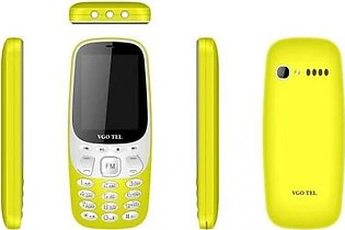 VGO TEL V3310 Yellow with Official Warranty