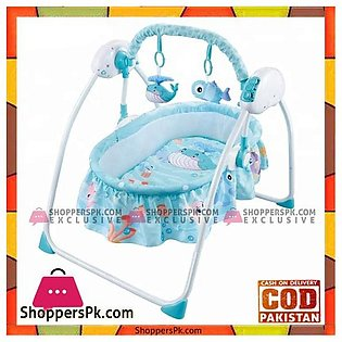 Intelligent Remote Control Crib Foldling Baby Swing Bed – HN821397