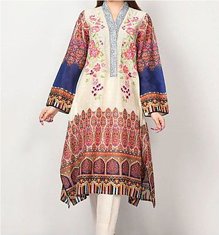 LAWN EMBROIDERED DRESS WITH LAWN DUPATTA UnStitched (DRL-628)