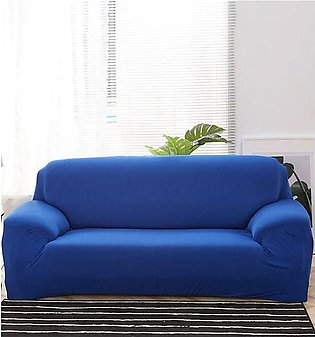 Stretch Fitted Sofa Cover - 7 Seater (3 + 2 + 1 + 1 Seater) Royal Blue
