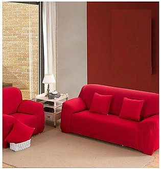 5 seater Jersey Sofa Cover - RED (3 + 1 +1 Seater)