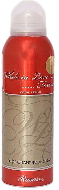 Rasasi While in Love Forever Pour Femme Body Spray For Women - 200ml