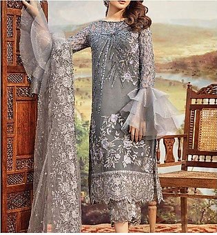 Pakistani Net Front Heavy Embroidered Suit 2020 (UnStitched) (CHI-352)