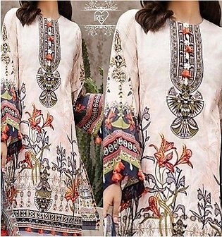 Lawn Embroidered 80/80 Lawn With Chiffon Printed Duppata UnStitched (DRL-641)