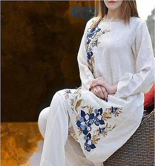 Heavy Lawn Embroidered Lawn Dress With Embroidered Bumper Chiffon Dupatta (DRL-…