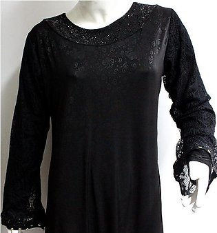 Jersey Abaya for Women With Scarf (AB-43)