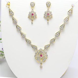 AD Jewellery Set Necklace Earrings for Women - (PS-155)